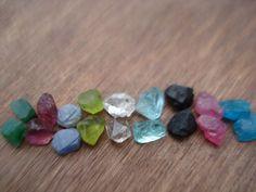 18 Rough Mix Gemstones  20.5 Ct Raw Rough by magicgemsbox on Etsy