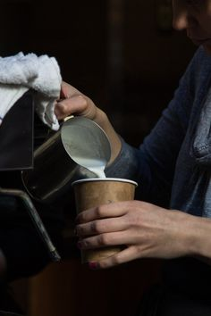 Take away cup, brown paper, natural