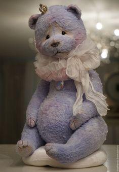 Купить Prince - голубой, мишка тедди, мишка ручной работы, авторский мишка, коллекционный мишка