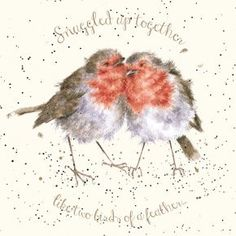 Discover more about Making Your Own Christmas Cards Christmas Cards 2018, Christmas Cats, Xmas, Watercolor Christmas Cards, Wrendale Designs, Cute Animal Illustration, Bird Feathers, Birds Of A Feather, Bird Theme