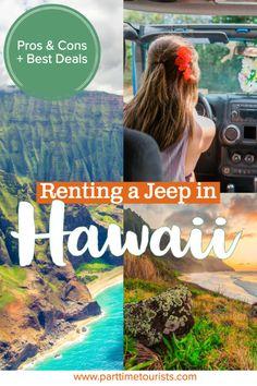 Renting a jeep in Hawaii. pros and cons to renting a jeep in hawaii. This article includes Hawaii jeep tours, Hawaii jeep pictures, Hawaii jeep rentals, and Hawaii jeep wrangler tips and tricks! Hawaii Vacation, Hawaii Travel, Beach Trip, Hawaii Hawaii, Beach Travel, Croatia Travel, Thailand Travel, Bangkok Thailand, Italy Travel