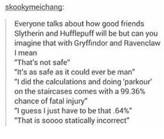 """I'd be the Raven claw. """"That's statistically incorrect.'"""
