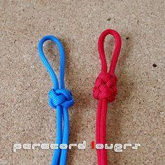 便利!ランヤードノットとダブルランヤードノットの結び方....パラコードの編み方