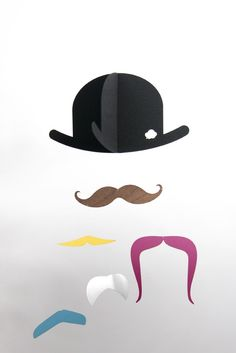 dapper mobiles, with moustache: so fun! Best Baby Mobile, Movember, Magritte, Just For Fun, Little People, Decoration, Kids Room, Creations, Girly
