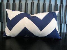 Lumbar chevron pillow by sewhipandhumble on Etsy, $45.00