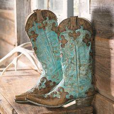 Lodge Decor-rustic Cabin Decor-southwestern Home Decor-log Cabin Decor-antler Lighting - Brown & Turquoise Boots
