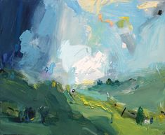 """""""memory of a valley"""" ... What a profoundly blue and green planet we live on! I am seeing these colours everywhere with an intensity I've never known! #artcollector #emergingartist #interiordesignideas"""