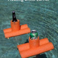 DIY Pool Noodle Drink Carrier