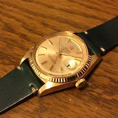 販売中‼️ 1803 daydate Pink gold 18k Champagne dial