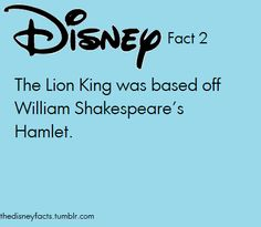 a comparison between hamlet and lion king Disney's the lion king is very closely based on the plot of hamlet, although it has also drawn comparisons with bambi in the story, simba, the son of the king musafa, goes into exile when his jealous uncle, scar, tricks him into believing that he was responsible for his father's death simba is befriended by.
