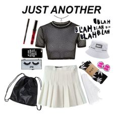 """""""Product."""" by rocio-kim ❤ liked on Polyvore featuring Monki, Topshop, NIKE, HUF, POPbeauty and Casetify"""