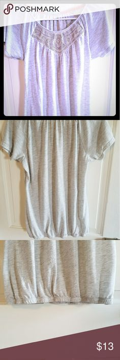 Embellished Scoop Neck Top EUC - This Maurices scoop neck top is comfortable yet classy. It has beautiful embellishments for a sophisticated look. The bottom hem is fitted. No signs of wear and tear. Maurices Tops Blouses