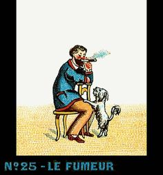 Bande de Praxinoscope n°25 - Le Fumeur