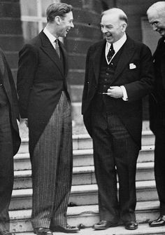 King George VI of the United Kingdom with Canadian Prime Minister Mackenzie King at the Buckingham Palace, London, England, United Kingdom, 11 May 1937
