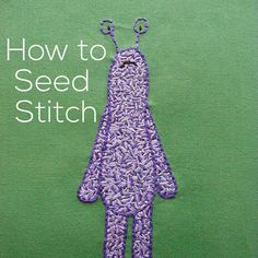 Seed stitch is one of my favorite fill stitches. Its really easy to do and it makes a great texture perfect for grassy fields and shaggy critters. Theres an extra post all about choosing colors for seed stitch to get maximum texture. Read it here. Happy stitching! Best Wendi