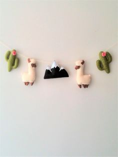 Llama and Cactus Nursery Garland Felt Llama Decor Boho Nursery Decor Baby Nursery Llama gifts Bunting Cactus Decoration Llama ornament by SweeToysBaby on Etsy https://www.etsy.com/listing/450934870/llama-and-cactus-nursery-garland-felt