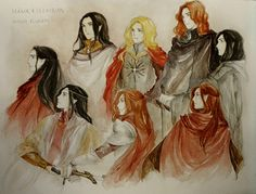Fëanor and his sons  (but blond Maglor seems weird...)