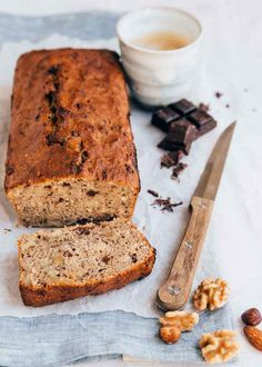 Healthy Bread Recipes, Healthy Banana Bread, Healthy Cake, Banana Bread Recipes, Healthy Sweets, Healthy Baking, Snack Recipes, Sugar Free Desserts, Breakfast Cake