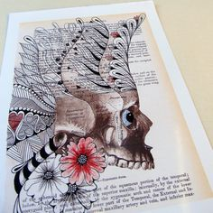 Book art from Pen In Hand Etsy shop