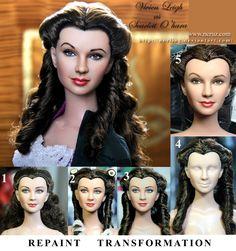 custom doll repaint Vivien Leigh  Scarlett O'hara by noeling.deviantart.com on @deviantART