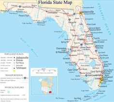 A large detailed map of Florida State