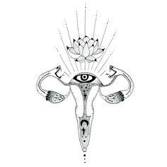 Sacred Ovaries - Art Print - 6x6 ( limited edition ) / MerakiLabbe / Anatomical <3