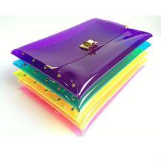 Deluxe Transparent Clear PVC Studs Clutch Bag Purse $1.2~$4