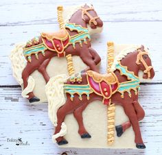 Carousel Horse Cookies, Circus Party, Carnival Party Favors, Popcorn Cookies, Ticket Cookies, Circus Letter Cookies