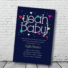baby shower invitation @PaisleyPrintsOnline #babyshower #shower #baby #yeahbaby #mommytobe