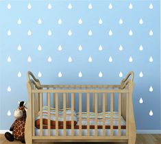 Vinyl Wall Decal Rain Drops - Kid's Vinyl Wall Decal - Nursery Vinyl Wall Decal - Wall Sticker - Child's Room Wall Decal - Rain Drop Sticker