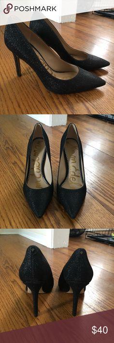 6032393f80da Sam Edelman Pumps Beautiful glitter black pumps! Never worn! Unfortunately