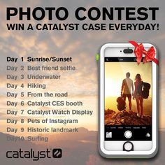 We're kicking off 2016 with a virtual photography adventure! Share the listed photo of the day with #CatalystCase and #JoinTheAdventure for a chance to WIN a Catalyst Case every day.  Day 1 theme is #Sunrise or #sunset. #Giveaway #PhotoChallenge #2016 #Photography #Photographer #AroundTheWorld #nature #Iphoneography #WIN #Instagram #iPhone #adventure