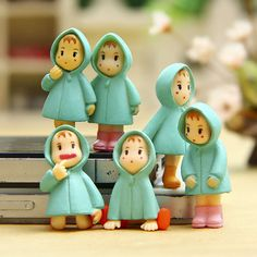 Objective 4pcs Micro Landscape Ornaments Creative Crafts Mini Cartoon Girls Garden Decor Home & Garden
