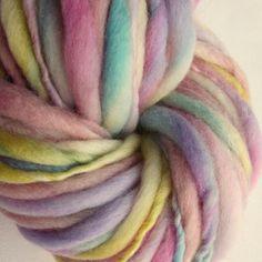 Handspun chunky wool thick and thin knitting yarn by thefibretree