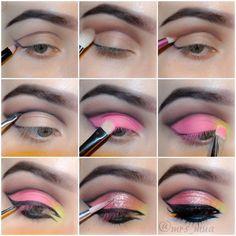 25 Beautiful Pink Eye Makeup Looks for 2019 Verzinnen Make-uplessen Pink Eye Makeup Looks, Glitter Eye Makeup, Eye Makeup Tips, Beauty Makeup, Makeup Ideas, Beauty Tips, Beauty Hacks, Prom Makeup Tutorial, Eye Tutorial