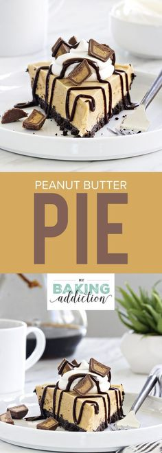 Peanut Butter Pie is made with a chocolate cookie crust and smooth creamy…