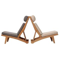 Low Lounge Chair by Hans J. Wegner | 1stdibs.com