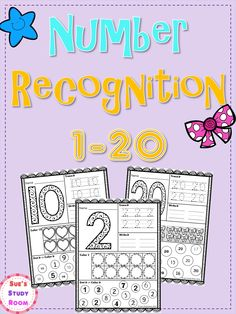 Number Recognition 1-20 for PreK and K