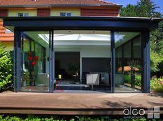 Flachdach Wintergarten wohn wintergarten modern mit flachdach größzügiger schiebetüre und