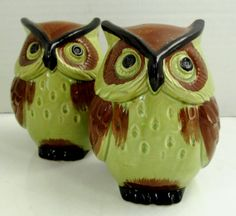 Large Vintage Owl Salt and Pepper Shakers by Lego by The Owl Lady at vintagevirtue.net, $25.00