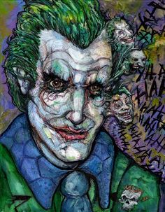 Joker doodle by My Dying Muse acrylic and ink.with just a few items that must be included Joker, inner demons. Both parties happy in the end. Inner Demons, My Doodle, Hello Everyone, Colored Pencils, Muse, The Voice, Joker, Doodles, Ink