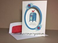 For the Birds and Oval framelits make a super cute card - Stampin' up!