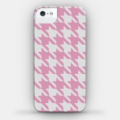 Houndstooth Case (Pink) #houndstooth #pattern #cute #phonecase #pink