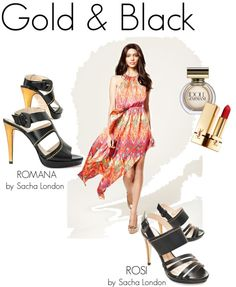 """Gold & Black"" by sachalondon on Polyvore"