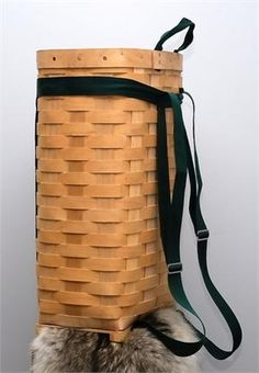 "Trappers Hardwood Veneer Pack Basket 18"" Trapping ~ Packbaskets"