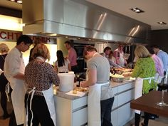 At the SieMatic Showroom in Lohne.  Beautiful space to hold a cooking event!