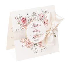Zaproszenia ślubne Florals w2 Wedding Stationary, Wedding Invitation Cards, Wedding Cards, Wedding Day, Wedding Graphics, Invitation Background, Flower Cards, Vintage Cards, Wedding Accessories