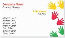 children finger painting Standard Business Cards