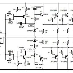 1500 Watt high power amplifier | Hubby Project | Pinterest | Circuit ...