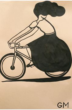 simple illustrations by LA based artist/illustrator Geoff McFetridge. All of these drawings were part of a project he did for Nike, called Nike Dunks Art And Illustration, Illustrations Posters, Bicycle Illustration, Luba Lukova, Bicycle Art, Bicycle Store, Silkscreen, Design Art, Graphic Design